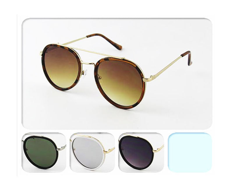 Aviator Style Metal Sun Glasses Wholesale - Dallas General Wholesale