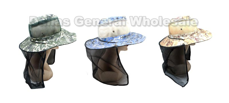 Mesh Digital Camouflage Bucket Hats with Vented Neck Cover Wholesale - Dallas General Wholesale