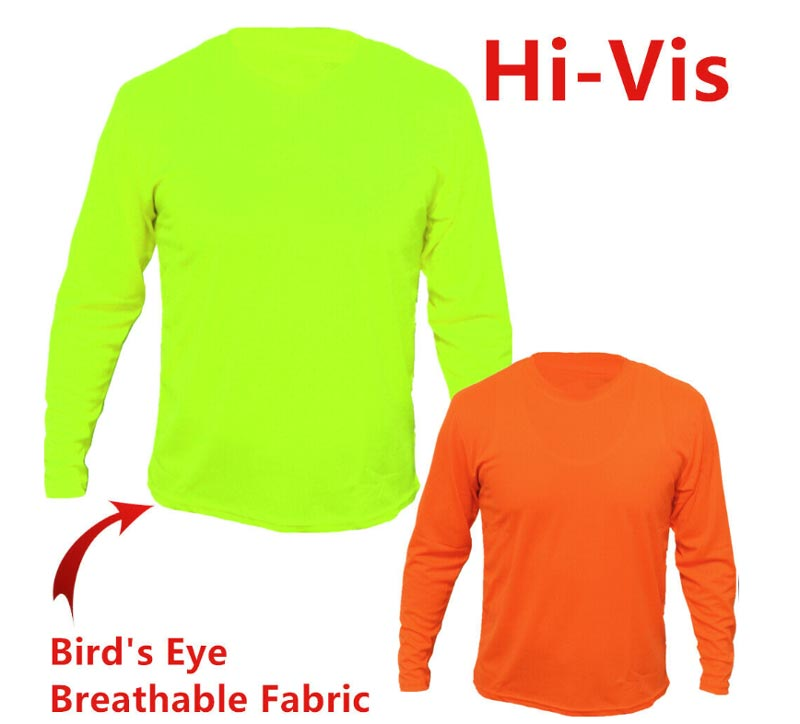 Men High Visibiltiy Long Sleeve Work Shirts Wholesale