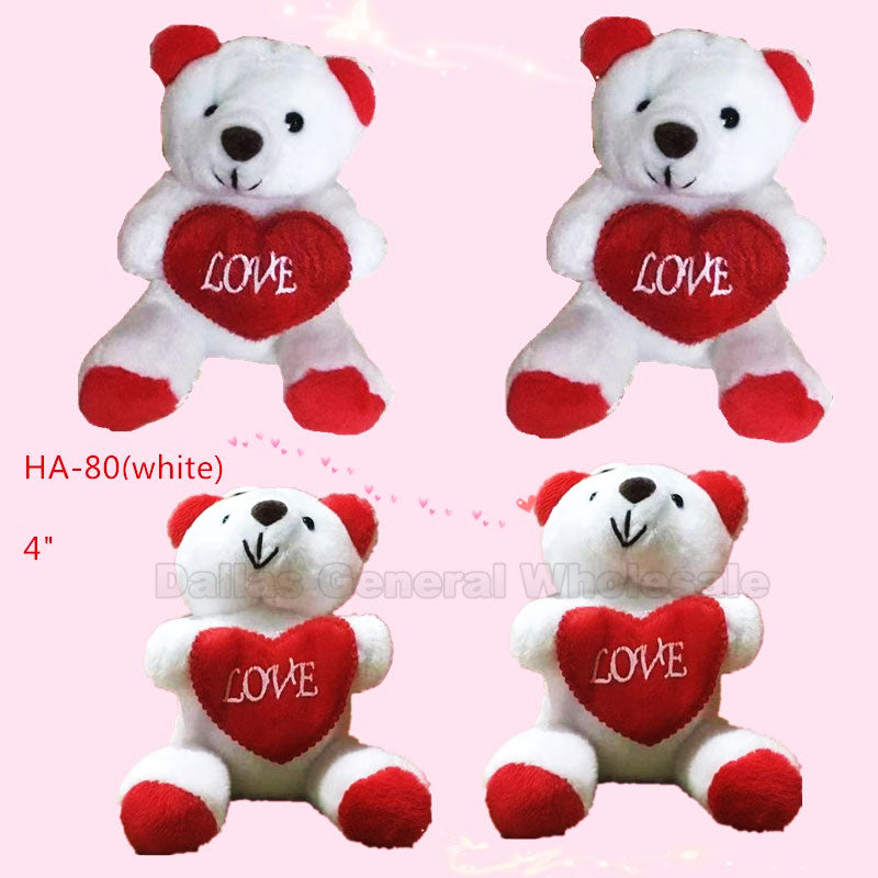 "4"" Fluffy Valentines Bears Wholesale - Dallas General Wholesale"