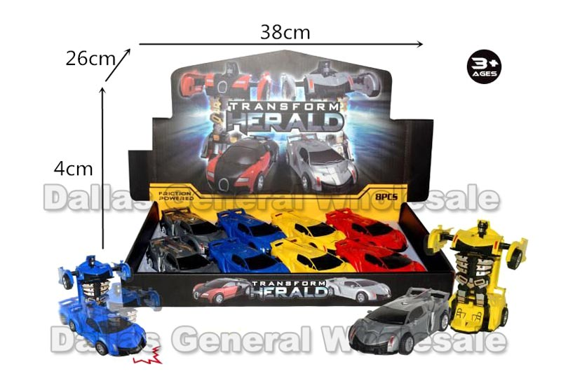 Toy Inertial Transform Robot Cars Wholesale