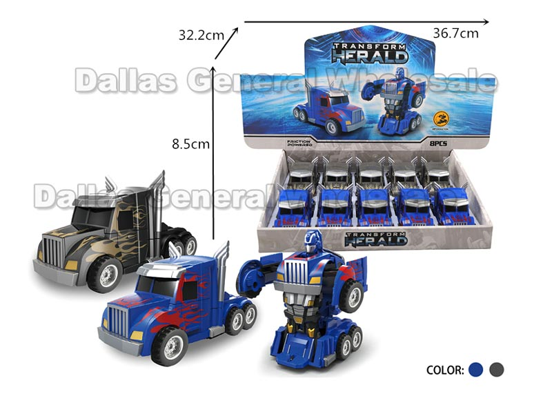 Toy Inertial Transforming Trucks Wholesale