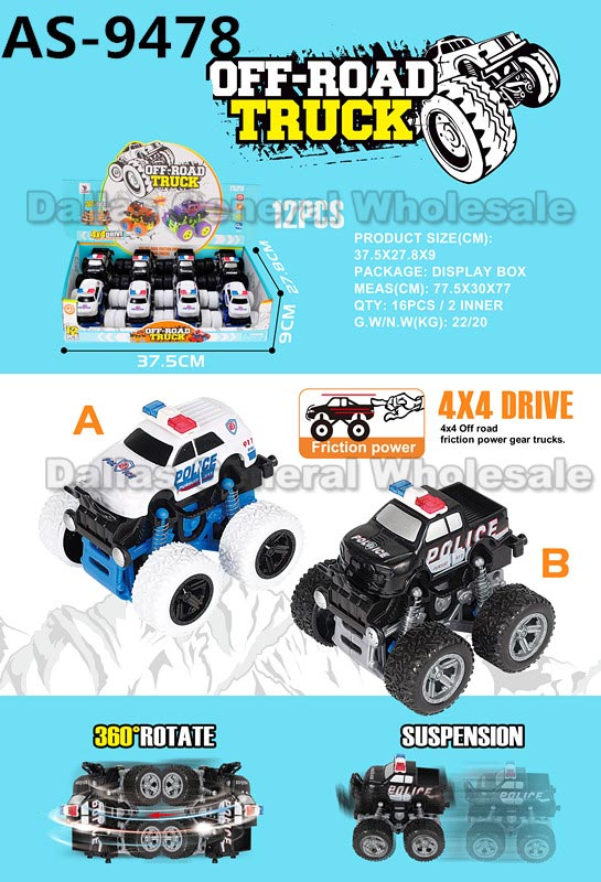 Toy Inertial 4x4 Police Cars Wholesale