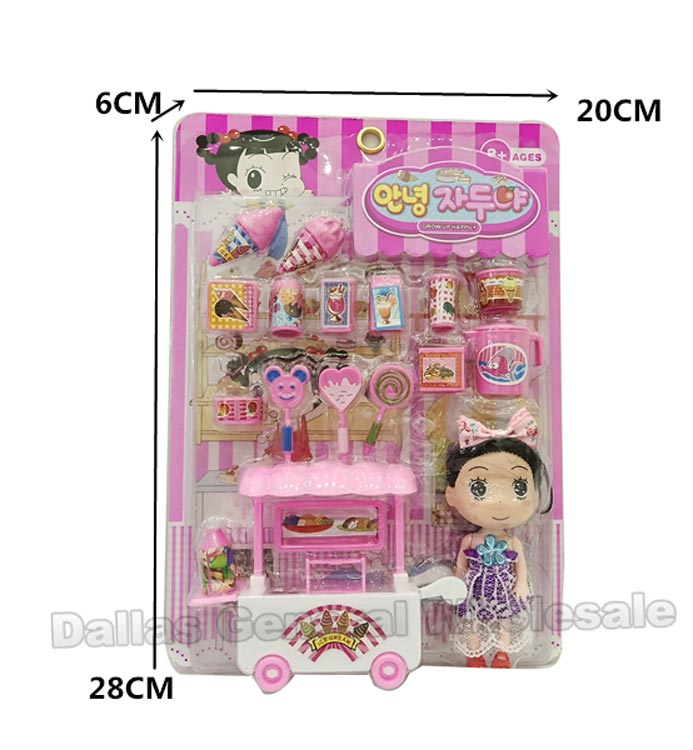 18 PC Toy Ice Cream Cart Play Sets Wholesale - Dallas General Wholesale
