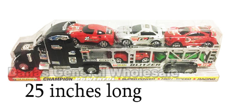 Toy Inertia Friction 18 Wheeler Trucks Wholesale - Dallas General Wholesale