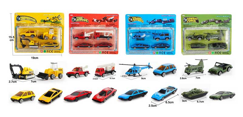 Assorted Inertia Car Models Set Wholesale - Dallas General Wholesale
