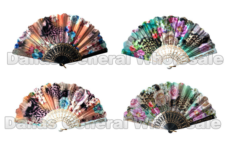 Beautiful Flower Design Oriental Hand Fans Wholesale - Dallas General Wholesale