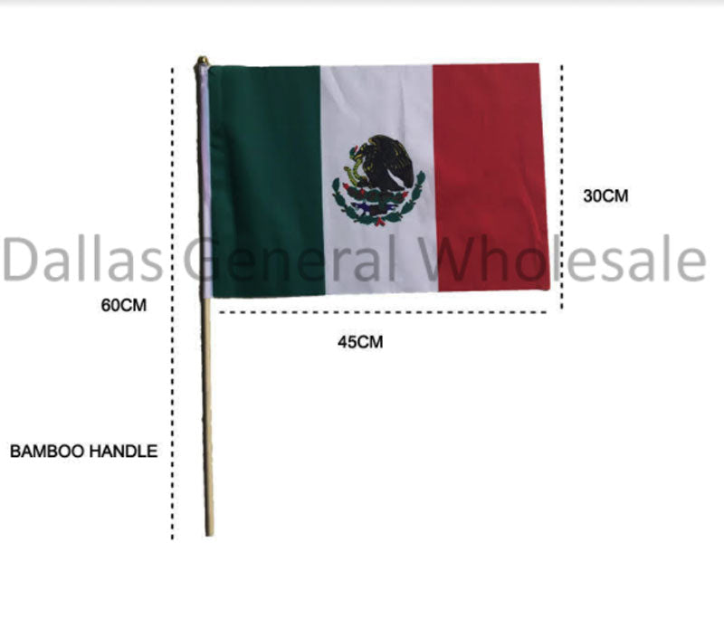 Hand Held Mexico Flags Wholesale
