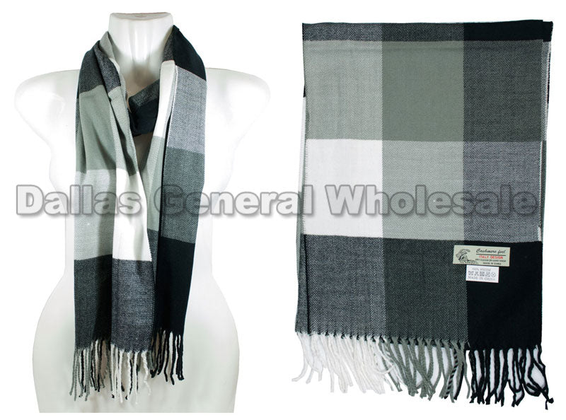 Men Winter Cashmere Feel Scarf Wholesale - Dallas General Wholesale
