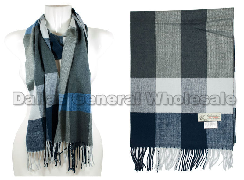 Men Cashmere Feel Scarf Wholesale - Dallas General Wholesale