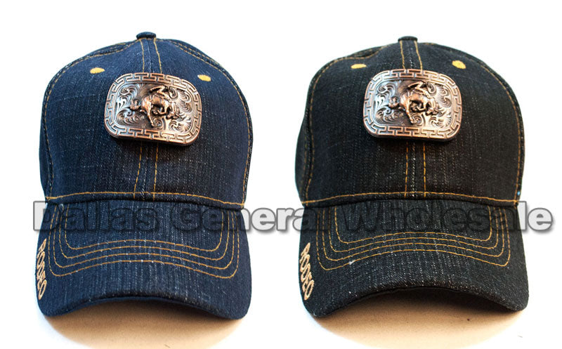 Brass Metal Rodeo Design Casual Caps Wholesale - Dallas General Wholesale