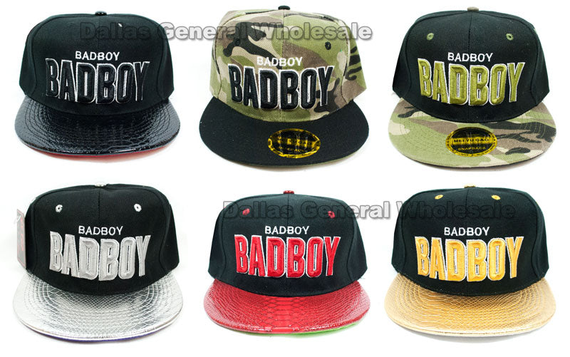 """Badboy"" Casual Flat Bill Caps Wholesale - Dallas General Wholesale"