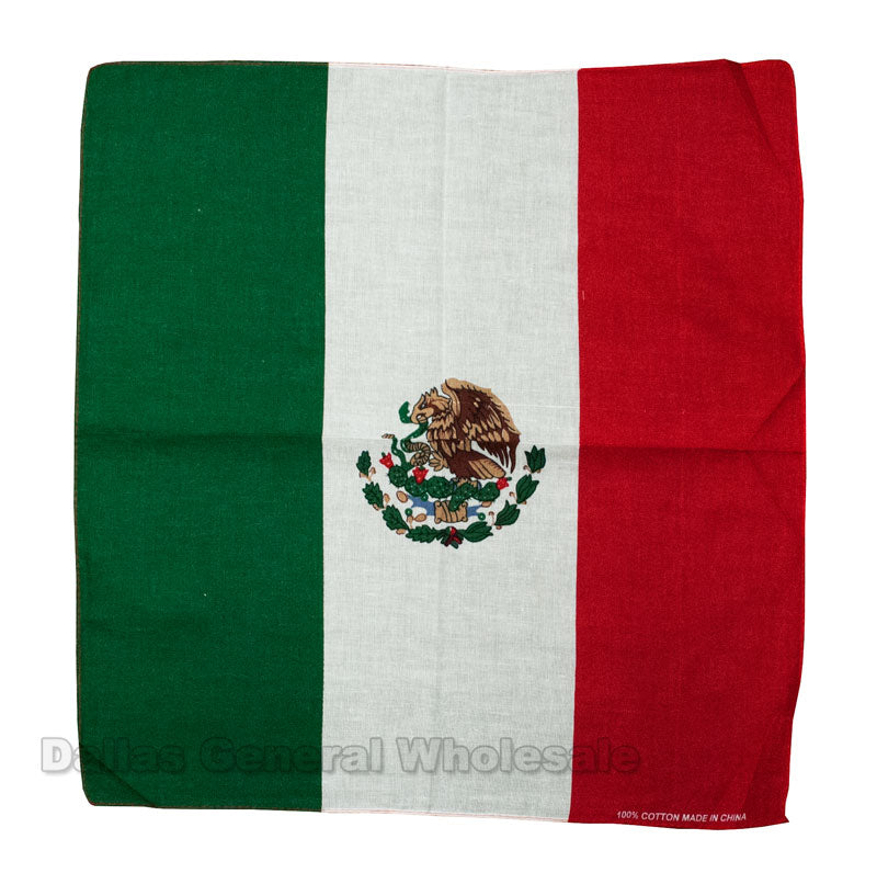 Mexico Flag Printed Bandanas Wholesale - Dallas General Wholesale