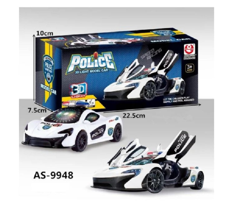 9948 Electronic Spinning Police Cars Wholesale - Dallas General Wholesale