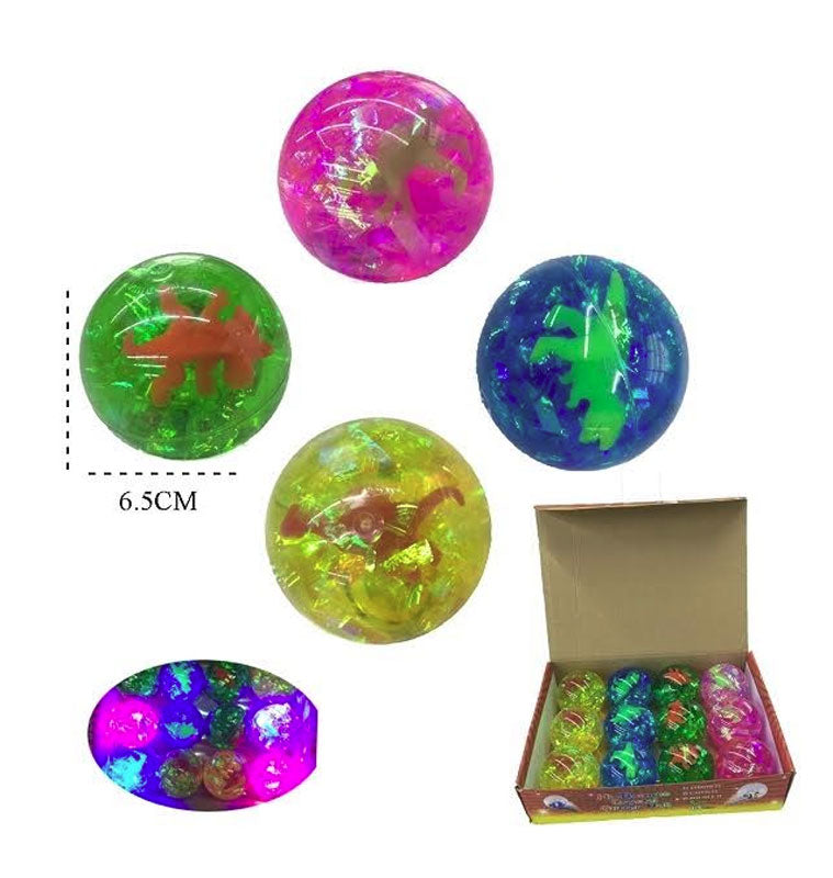 Dinosaur Light Up Bounce Balls Wholesale - Dallas General Wholesale