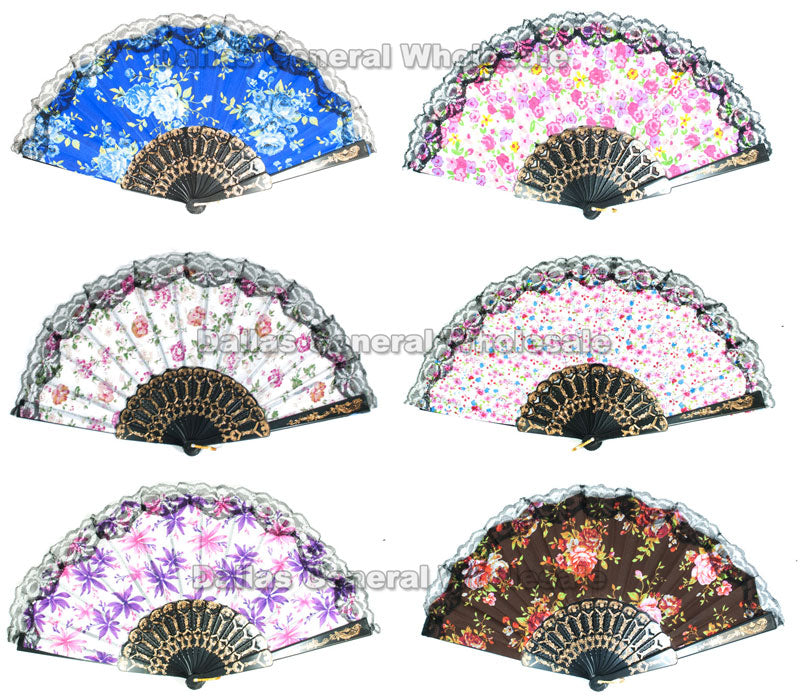 Lace Hand Held Folding Fans Wholesale - Dallas General Wholesale
