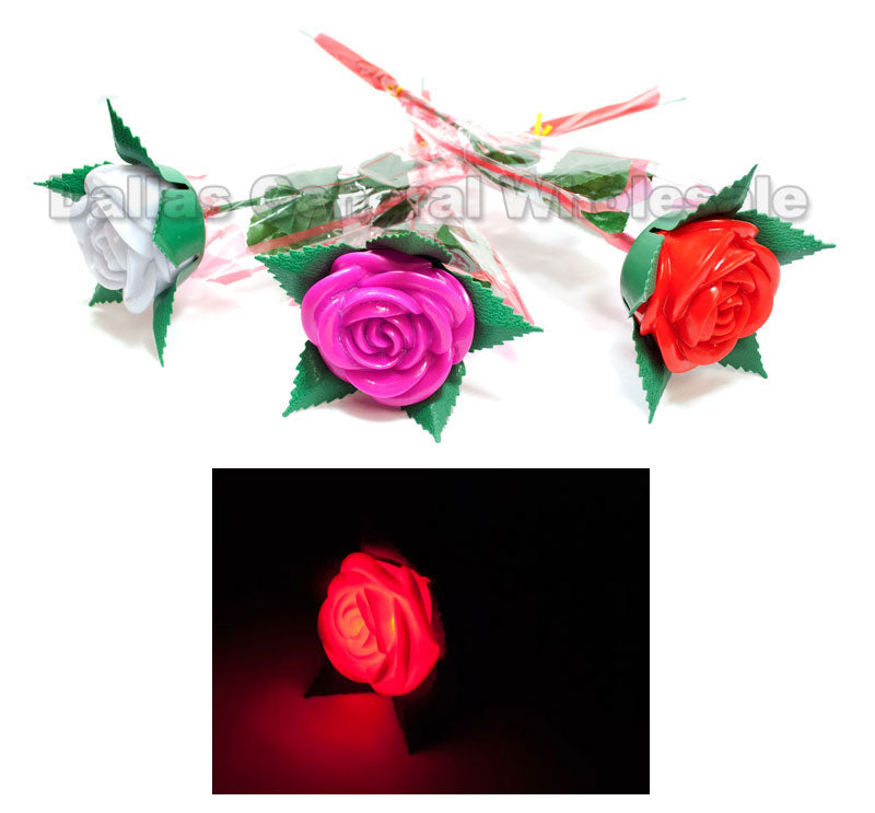 Flashing Light Up Roses Wholesale - Dallas General Wholesale