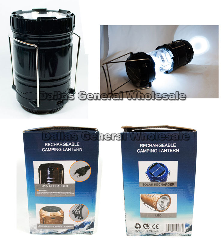 Solar Re-chargeable Camping Lanterns Wholesale - Dallas General Wholesale