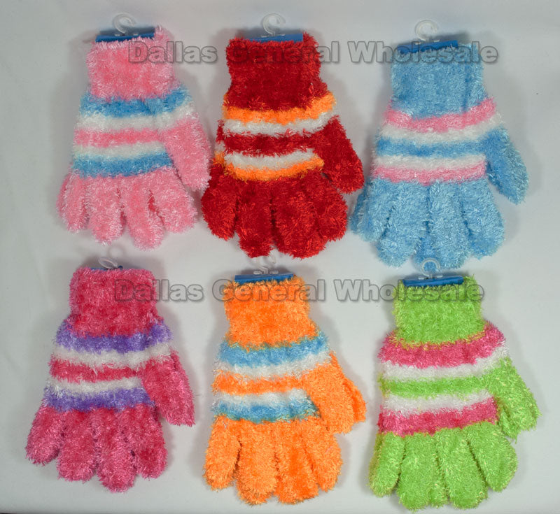Girls Cute Fluffy Gloves Wholesale - Dallas General Wholesale