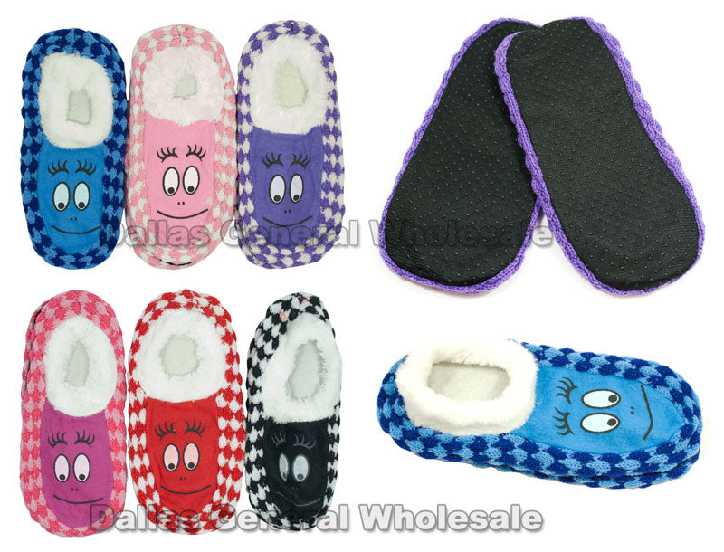 Girls Fur Insulated Sock Slippers Wholesale - Dallas General Wholesale