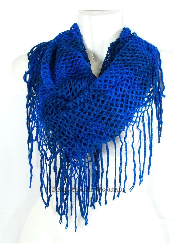 Girls 2-In-1 Knitted Infinity Circle Scarf Wholesale - Dallas General Wholesale
