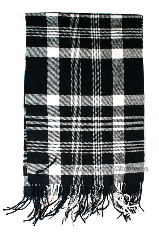 Plaid Cashmere Feel Scarf Wholesale - Dallas General Wholesale
