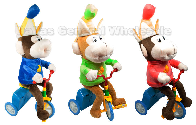 Plush Monkey Riding Bikes Wholesale - Dallas General Wholesale