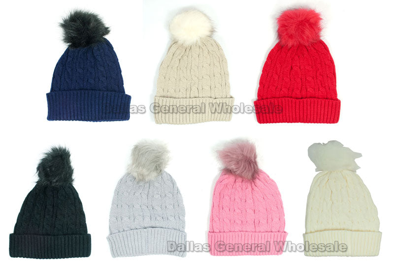 Pre-Teens Winter Knitted Beanies Hats Wholesale - Dallas General Wholesale