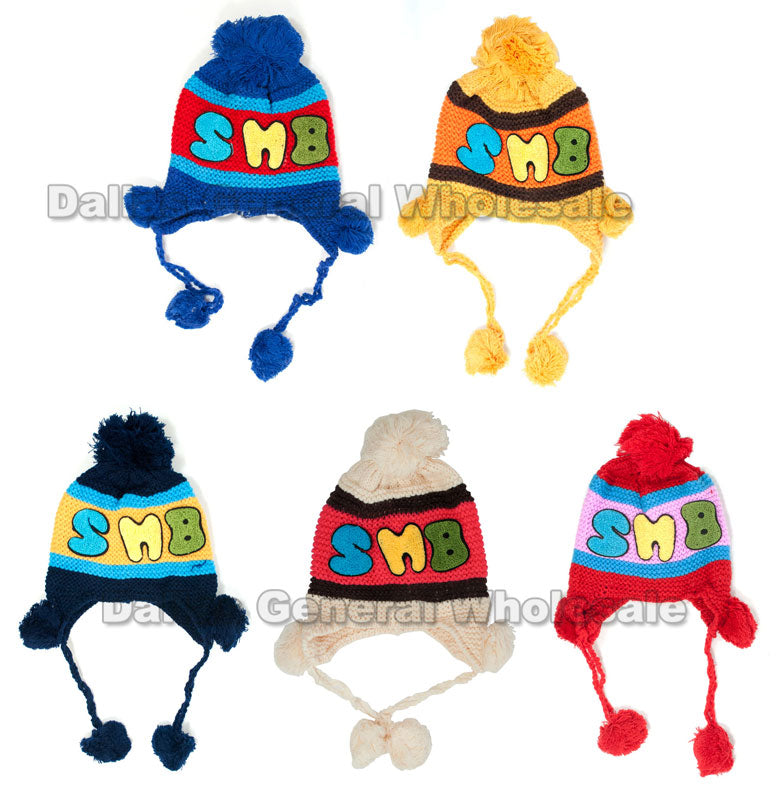 Boys Winter Knitted Toboggan Beanie Hats Wholesale - Dallas General Wholesale