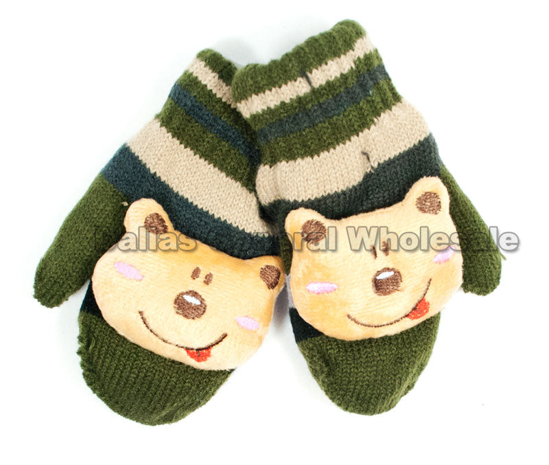 Toddlers Stuffed Bear Mittens Wholesale - Dallas General Wholesale