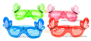 Flashing Light Up Novelty Butterfly Glasses Wholesale - Dallas General Wholesale