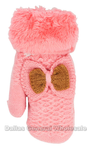 Little Girls Fur Insulated Mittens Wholesale - Dallas General Wholesale