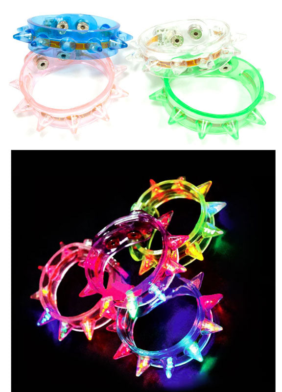 Kids Novelty Glowing Spike Bracelets Wholesale - Dallas General Wholesale