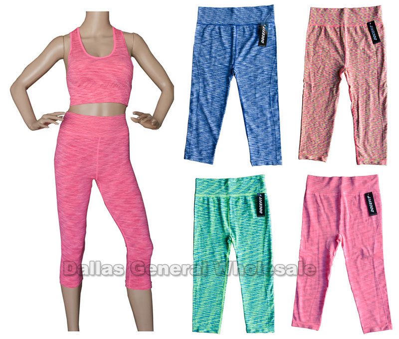 Ladies Active Exercise Capris Wholesale - Dallas General Wholesale