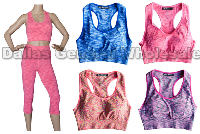 Race Back Active Bra Tops Wholesale - Dallas General Wholesale