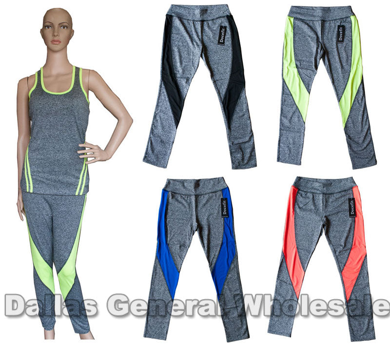 Active Mid Calf Capris Pants Wholesale - Dallas General Wholesale