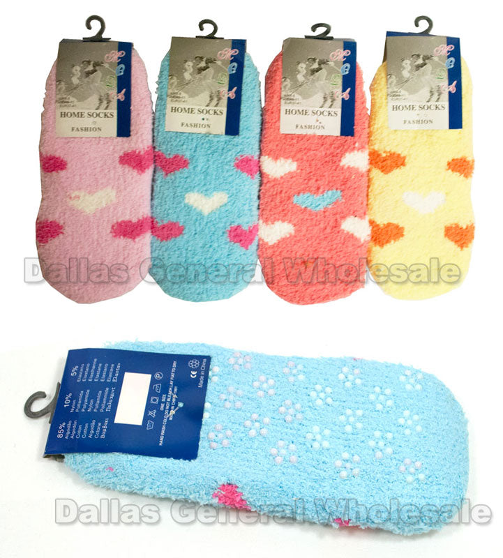 Girls No Show Fuzzy Socks Wholesale - Dallas General Wholesale