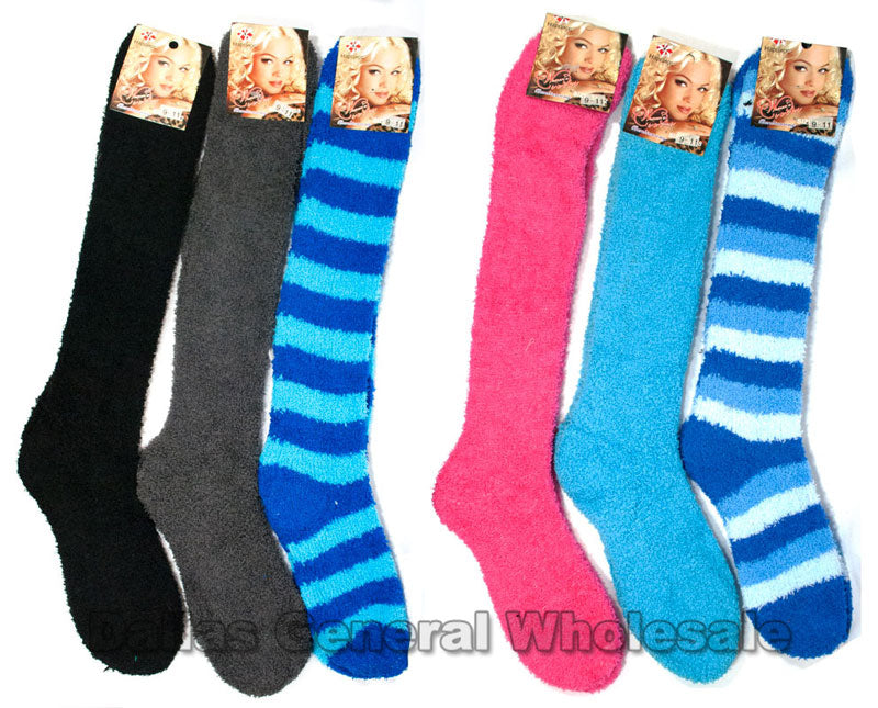 Over Knee Fuzzy Socks Wholesale - Dallas General Wholesale