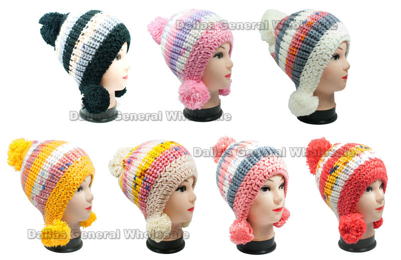 Girls Knitted Cute Beanies Hats Wholesale - Dallas General Wholesale