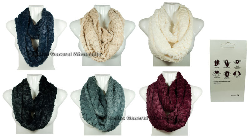 Fashion Fur Infinity Circle Scarf Wholesale - Dallas General Wholesale