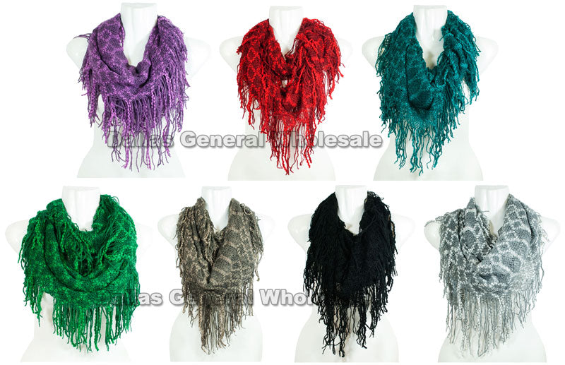 Women's Cute Infinity Circle Scarf Wholesale - Dallas General Wholesale