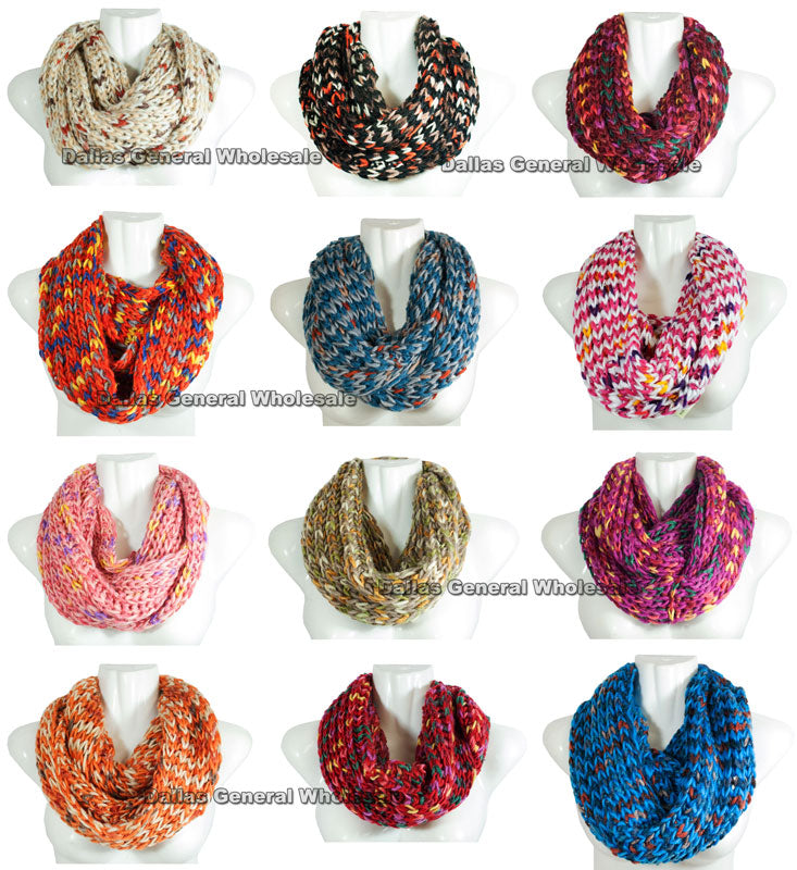 Ladies Knitted Infinity Circle Scarf Wholesale - Dallas General Wholesale