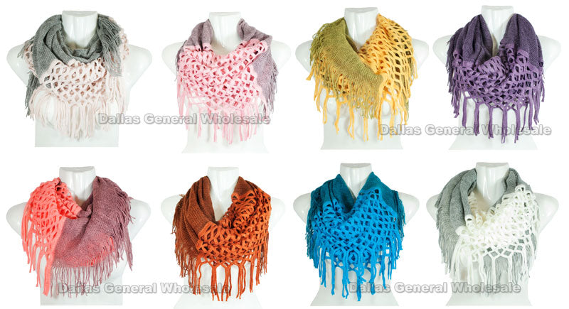 Winter Fashion 2-in-1 Infinity Scarves Wholesale - Dallas General Wholesale