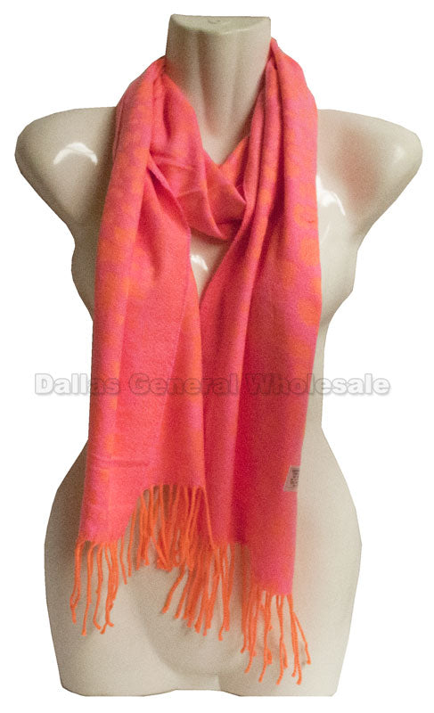 Neon Pink Cashmere Feel Scarf Wholesale - Dallas General Wholesale