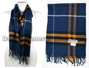 Adults Fashion Cashmere Feel Scarf Wholesale - Dallas General Wholesale