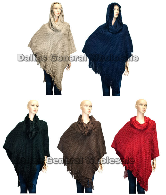 Ladies Fashion Hooded Ponchos Wholesale - Dallas General Wholesale