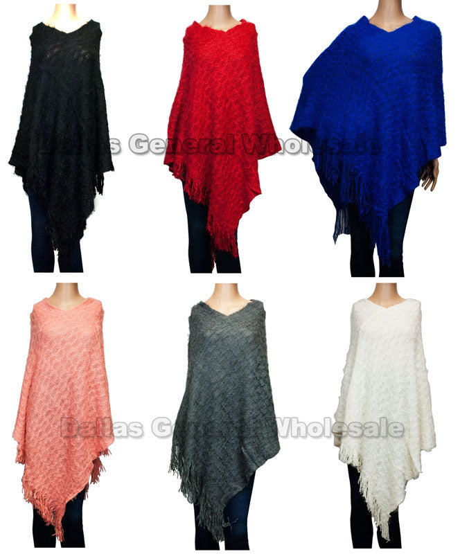 Ladies Fashion Knitted Ponchos Wholesale - Dallas General Wholesale