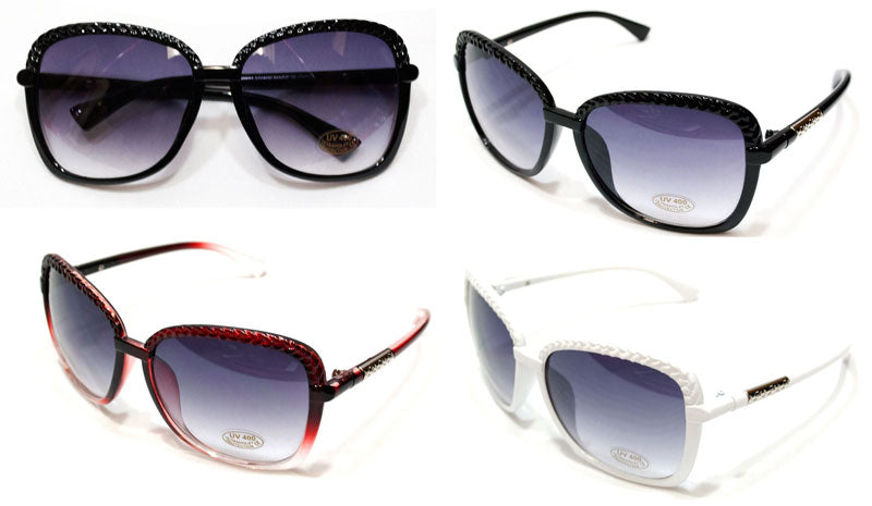 Ladies Oversized Plastic Frame Fashion Sunglasses Wholesale - Dallas General Wholesale