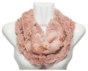 Ladies Winter Faux Fur Fashion Infinity Circle Scarf Wholesale - Dallas General Wholesale