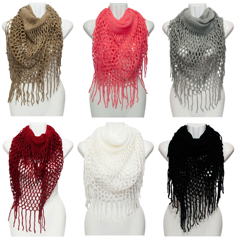 Ladies Winter Fashion Knitted 2-in-1 Infinity Scarf Wholesale - Dallas General Wholesale